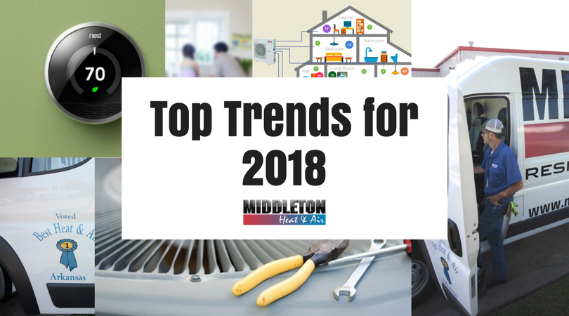 3 HVAC Trends for 2018, Middleton Heat and Air